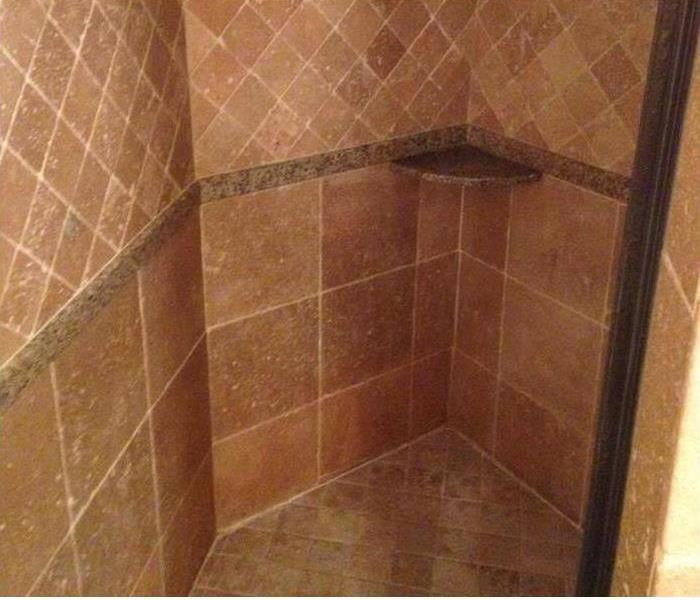 Mold Damaged Shower Stall in Siesta Key After