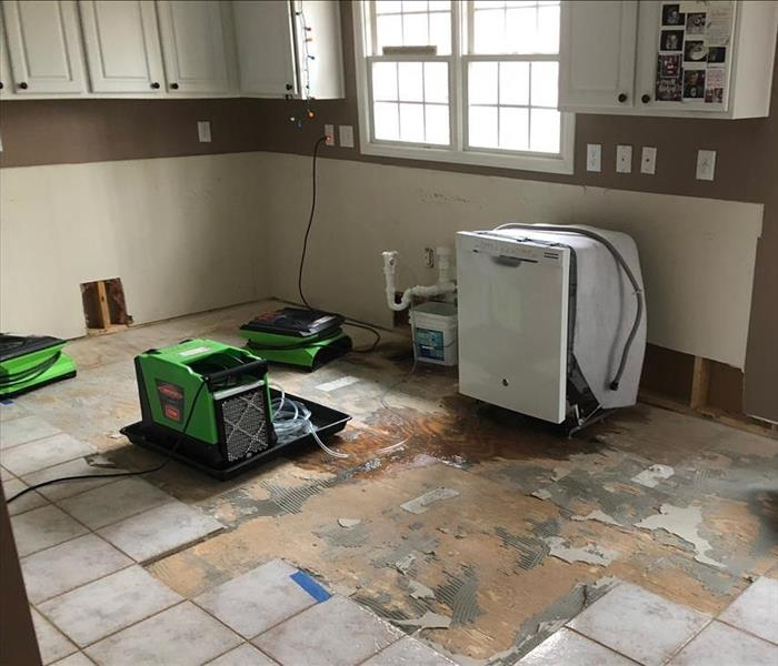 Siesta Key Water Damaged Kitchen